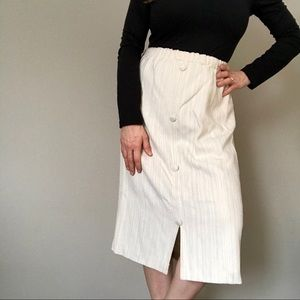 💝+ 20% off Vintage -tweed midi skirt with buttons